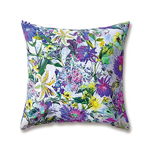 tgyew Soft Plush Flowers Cushion Covers Red Rose Peony Iris Daisy Blue Cornflowers Printing 45cm x 45cm(18 x 18inch) Throw Soft Plush Pillow Cases for Home Sofa Bed Decorative (Iris Lounge Halloween)