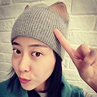 0ecf8adb7a596 ZXGJMZ Gorros para Mujer Sombrero de Punto Mujer Sombrero de Gorro de Punto  Mujer de Invierno