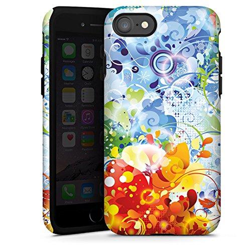 Apple iPhone X Silikon Hülle Case Schutzhülle Floral Muster Ranken Tough Case glänzend