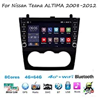 For Nissan Teana ALTIMA 2008-2012 Sat Nav Double Din Car Stereo Radio GPS Navigation 9 Inch Head Unit Multimedia Player Video Receiver Carplay DSP RDS OBD DAB
