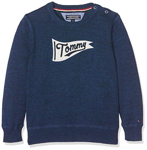 Tommy Hilfiger H Intarsia CN Sweater L/S, Pull Garçon Tommy Hilfiger