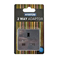 Status AA 2-Way Non Fused Adaptor - Black, Pack of 1