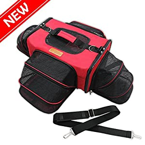 Bow-Meow-PREMIUM-PET-CARRIER-Airline-Approved-Unique-4-sides-Expandable-Extra-Spacious-For-Cats-Dogs-Kittens-Puppies-Extra-Spacious-Soft-Sided-Carrier