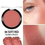 Yiitay Matte Blusher Exquisito Sedoso Fácil de Color Aclarar Color de Piel Mate Colorete Maquillaje