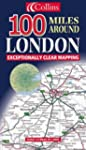 Carte routi�re : 100 Miles Around Lon...