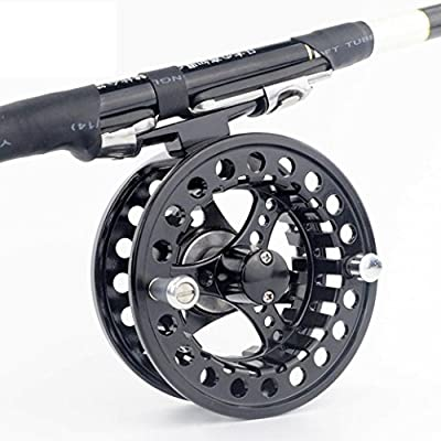 Aluminum Alloy Fly Reel 3/4/5/6/7/8 WT Large Arbor Silver/Black Aluminum Fly Fishing Reel from TianranRT