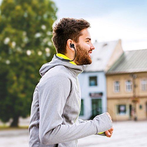 Bluetooth Kopfhörer, MixcMax IPX5 Wasserdichte In Ear Wireless Ohrhörer mit Magnetischer Verbindung, Sport Kopfhörer Eingebautem Mic, HiFi Sound, Noise Cancelling für iPhone, iPad, Android, Tablets, Laptop - Bild 2