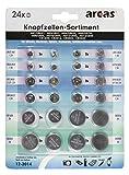 Knopfzellen-Sortiment Alkaline und Lithium, 24-teilig (Liefermenge=2)
