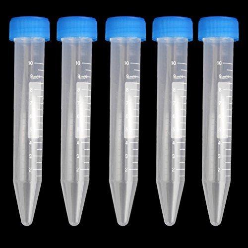 kingwin 5x 10ml graduiert Zentrifuge Röhren Labor Test Supplies–zufällige Farbe