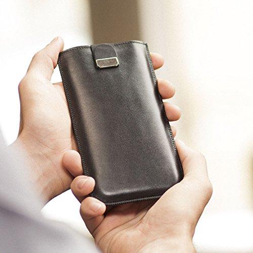 Tasche für Samsung Galaxy S10e Hülle schwarze Handyschale Gehäuse Ledertasche Lederetui Lederhülle Handytasche Handysocke Handyhülle Leder Case Cover Etui Schalle Socke Abdeckung