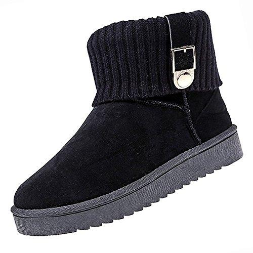 Scarpe donna pu molla Comfort di caduta di scarponi per Outdoor Kaki rosa grigio nero,grigio, US6 / EU36 / UK4 / CN36 Gray