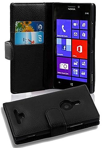 Cadorabo - Book Style Hülle für Nokia Lumia 925 - Case Cover Schutzhülle Etui Tasche mit Kartenfach in