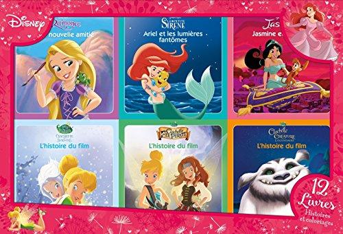 DISNEY PRINCESSES - Coffret 12 Livres - Princesses et Fées