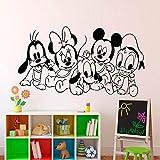 yaoxingfu Personajes AnimadosyEtiqueta de la Pared para niños habitación decoración para el hogar calcomanías de Vinilo bebés Sala de Juegos Pegatinas murales Rojo 57X32 cm