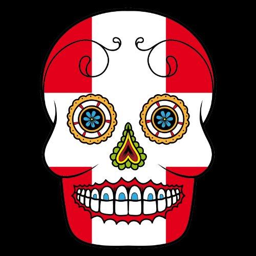 T-Shirt - Schweiz - Sugar Skull - Fahne - Herren - unisex Schwarz