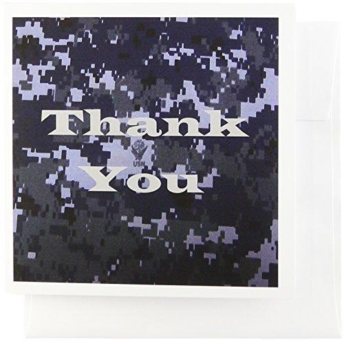 rußkarten, Kunstdruck Der Worte Thank You On Navy Camouflage (GC 182430_ 2) ()