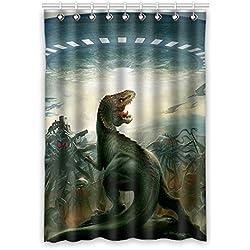 """Personalizado dinosaurio (1) cortina de ventana """"50(W) X 96pulgadas (H) impermeable tejido de poliéster, One-Side impresión, estilo de una pieza (9orificios), poliéster, Dinosaur(5), 50x96(inches)"""