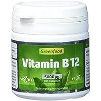 Greenfood Vitamin B12 (Methylcobalamin), hochdosiert, 5000 µg, 180 Tabletten