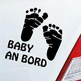 Auto Aufkleber in deiner Wunschfarbe Baby an Bord Füße on Board Junge Mädchen 15x14 cm Autoaufkleber Sticker Folie