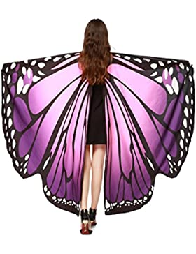 Fossen Mujer Capas Alas de mariposa Duendecito Hada Accesorio de Disfraces
