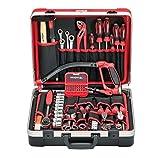 CAROLUS 2234.030 Werkzeugkoffer + Universalsatz All-In, 107-tlg, 1 Stück