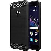 Funda Huawei P8 Lite 2017, Simpeak funda p8 lite 2017 carcasa huawei p8 lite 2017 funda Gel Silicona TPU case(No para Huawei P8 Lite 2016),Negro