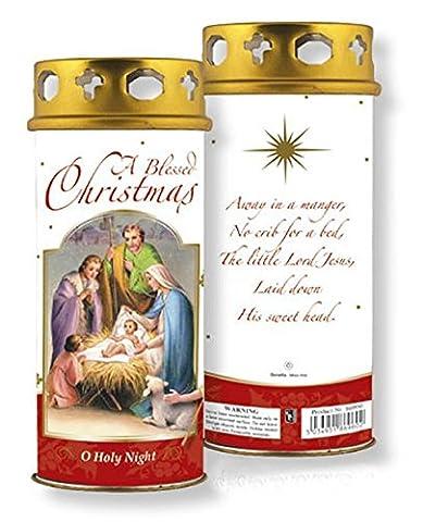 Bougie de noel rouge Blessings Noël avec une bougie à la prière.