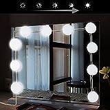 Makibee Spiegelleuchte LED Spiegelleuchte mit Schalter Dimmbar Badlampe für Spiegel 1W 6800k umstellbare Länge 4m Schrankleuchte für Kosmetikspiegel / Schminkspiegel / Frisierkommode / Frisiertisch / Kosmetiktisch USB Badspiegel beleuchtet badspiegel lampe badlampe spiegel