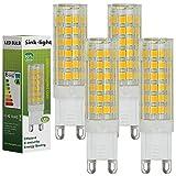 Sink-light® 4 Stück G9 LED Lampe 7W AC 220-240V Warmweiß 3500K 75x2835 SMD Mit ACRYLIC und Keramik Mantel