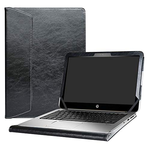 Alapmk Schutz Abdeckung Hülle für 12.5 Zoll HP EliteBook Folio 1020 G1 & 13.3 Zoll HP EliteBook 1030 G1 Series Notebook,Schwarz (G2 Hp Covers Tablet)