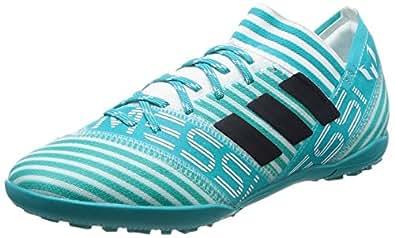 adidas Unisex-Kinder NEMEZIZ Messi 17.4 TF Fußballschuhe, Weiß (Footwear White/Legend Ink/Energy Blue), 38 2/3 EU