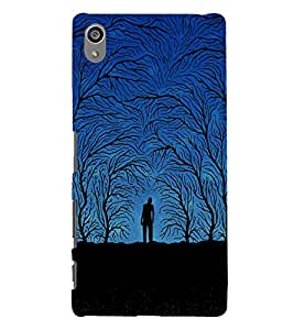 printtech Scary Zombie Design Night Back Case Cover for Sony Xperia Z5 Premium