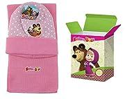 MASHA E ORSO Set Inverno 2pz. Cappello cuffia + Sciarpa bambina Taglia Unica da 2-6 anni