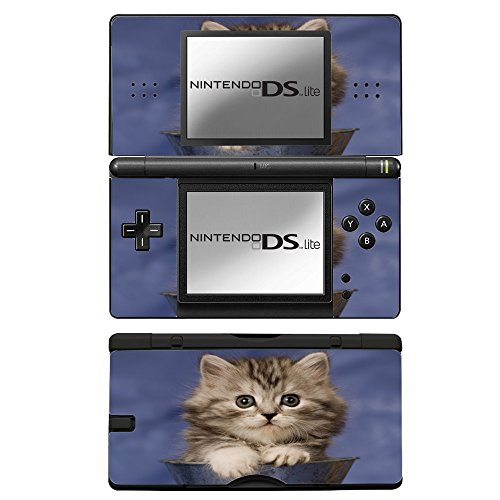 Price comparison product image Cats 076, Cat in Vase, Skin Sticker Vinyl Cover with Leather Effect Laminate and Colorful Design for Nintendo DS Lite Sticker