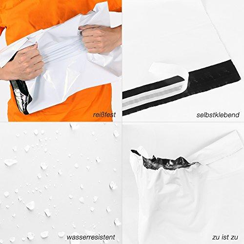 Rocketbag confezione da 100 buste postali da spedizione, 35 x 25 cm, taglia: XS