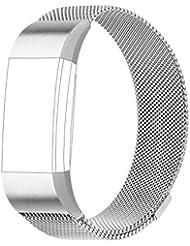 Fitbit Charge 2 Bracelet POY acier inoxydable Milanaise bande un Replacement Bracelet pour Fitbit Charge 2