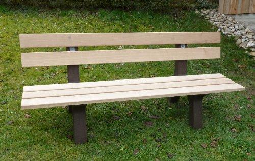 Gartenbank Parkbank Sitzbank Gartenmöbel Recycling Parkbank Eiche