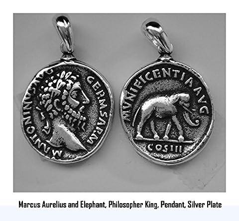 Roman Empire, Marcus Aurelius, Philosopher King Pendant, Famous Romans, (#