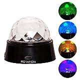 RMAN RGB Discokugel LED Party Lampe Weihnachten Kristall Magic Ball Partylicht Led Discolicht Beleuchtung mit Projektion,Effekt Lichtprojektor Bühnenbeleuchtung Farbwechsel Nachtlicht
