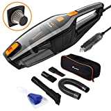 Foxnovo Corded Car Vacuum Cleaner,DC 12V 120W High Power,Wet Dry Portable Handheld Auto