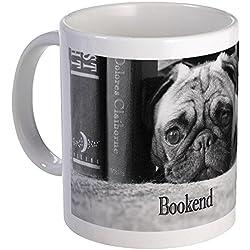 CafePress diseño de CARLINO soporte para libros–taza de café única ml, taza de café, taza de té, blanco, small