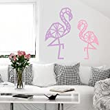 Yekoyy Autocollant Mural Famille Murale Citation Lettrage Vinyle Autocollant Mural DIY Origami Flamant Rose Home Decor 21.1x39 inch