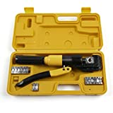 MultiWare Tube Terminals Lugs Battery Cable Wire Crimping Force Hydraulic Crimper Tool Kit