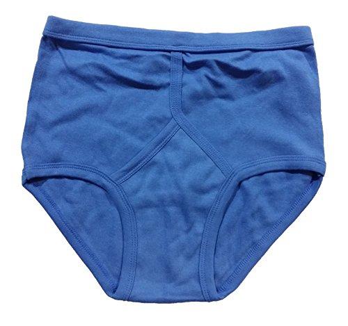 Herren-Unterhose aus Baumwolle, klassisch und bequem, unifarben, Vorderseite in Y-Form, 2er-Pack, Slip, Unterwäsche Blau / Himmelblau