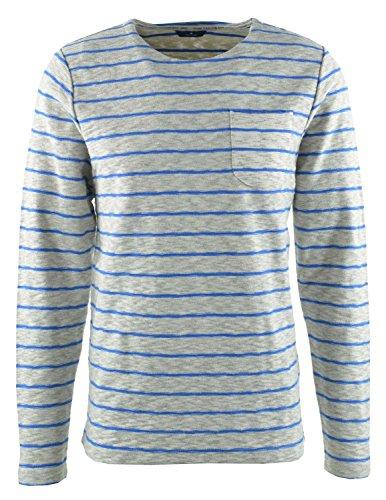 Tom Tailor für Männer Sweat gestreiftes Langarm-Shirt White
