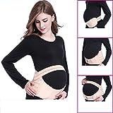 Fascia Premaman Cintura Gravidanza Regolabile,con supporto elastico e confortevole per donna incinta-Fascia per gravidanza con sostegno lombare, e per addominali- dimensione:M,L (L)