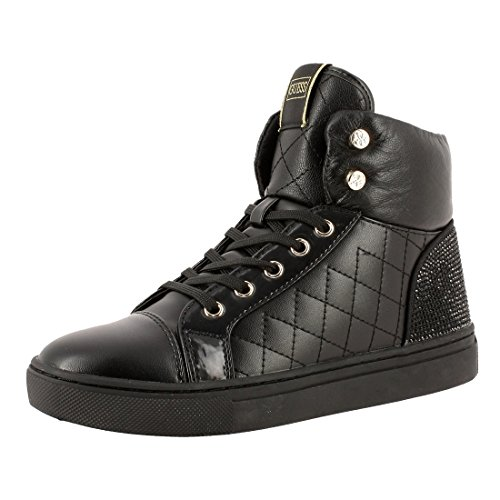 Guess Sneaker Donna Janis4 Leather Black Nero