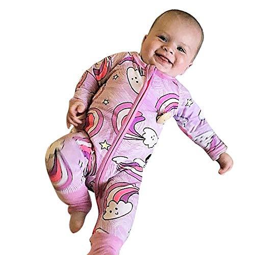 cinnamou Baby Winter Overall mit Kapuze Strampler Footed Spielanzug Mädchen Jungen Jumpsuit