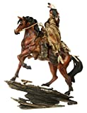Deko Indianer Figur Krieger auf Pferd Dekoration Indianerfigur Wilder Westen
