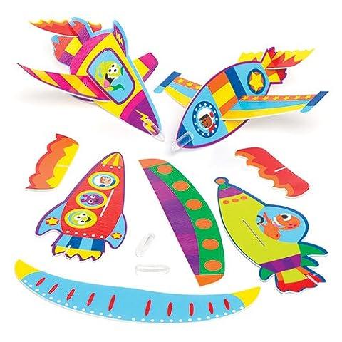Petits jouets en forme de planeurs fusées, à offrir et à glisser dans les pochettes-surprises des enfants lors des fêtes pour qu'ils jouent avec (Lot de